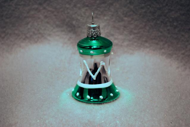 Klocka grön/silver blank 4cm