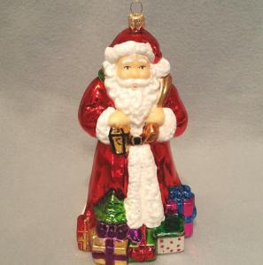 Tomte med julklappar stor