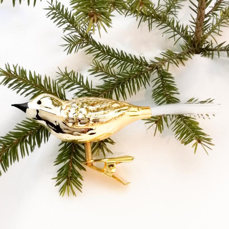 Fågel guld blank
