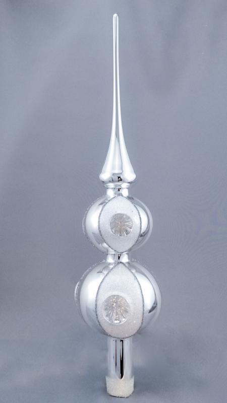 Spira silver blank med 2 kulor