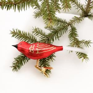 Fågel röd matt