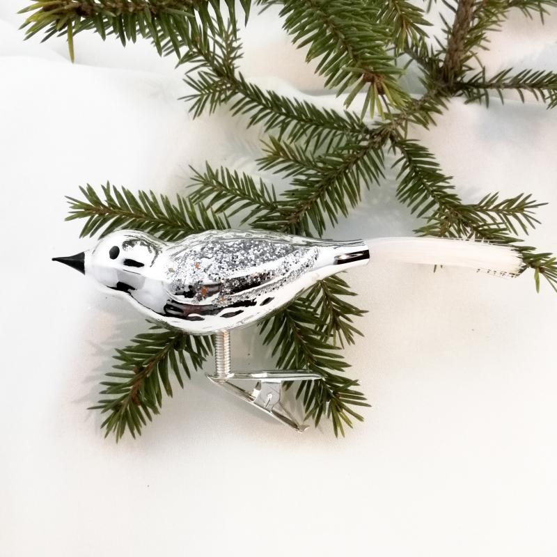 Fågel silver blank