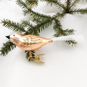 Fågel guld matt