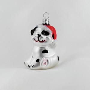 Hund med tomteluva