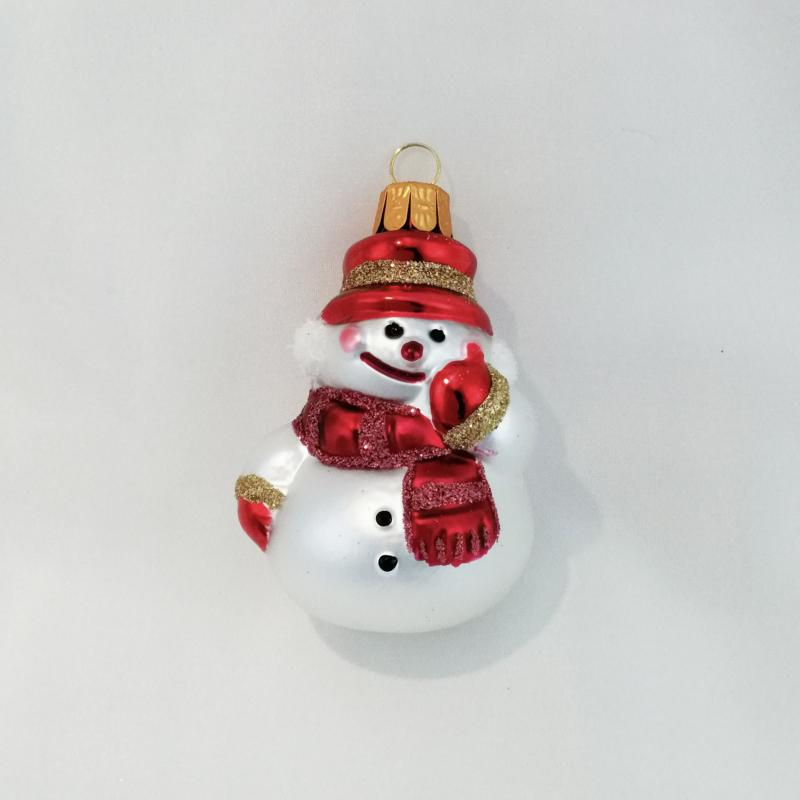 Snögubbe röd hatt
