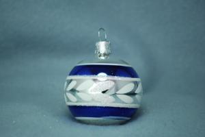 Silver blank med blå ränder