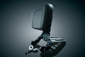 Driver & Passenger Backrest black/chrome
