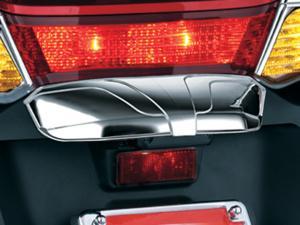 License plate hood trim