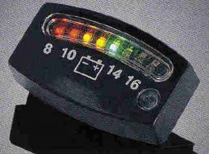 LED BATTERY GAUGE BLACK
