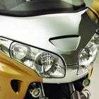 chrome abs windshield garnish