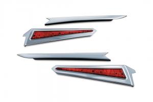 L.E.D. Saddlebag Extensions, chrome