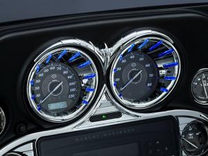 Chrome L.E.D. Speedo-Tach Beze