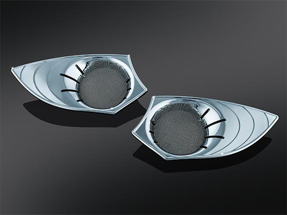 Led speaker grills chrome