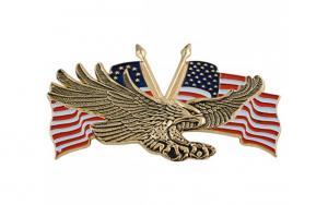 eagle gold with usa flag