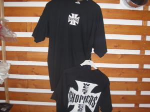 T shirt black choppers XL orgi