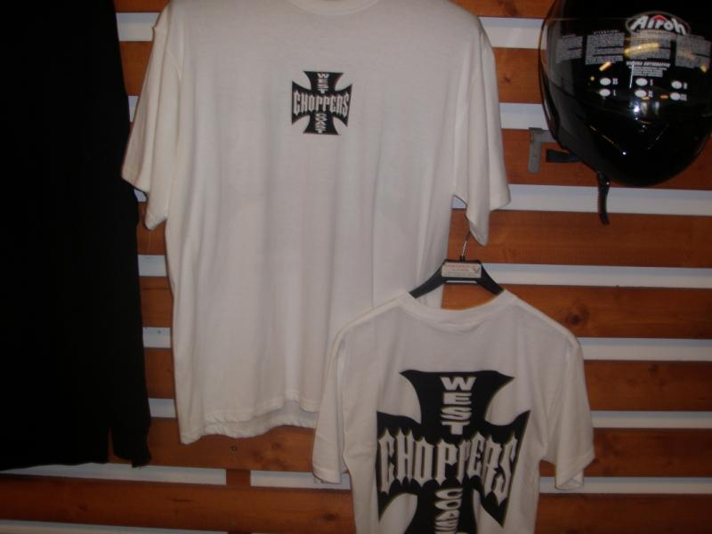 T shirt choppers vit XXL org