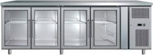 Kyldisk med 4-glasdörrar