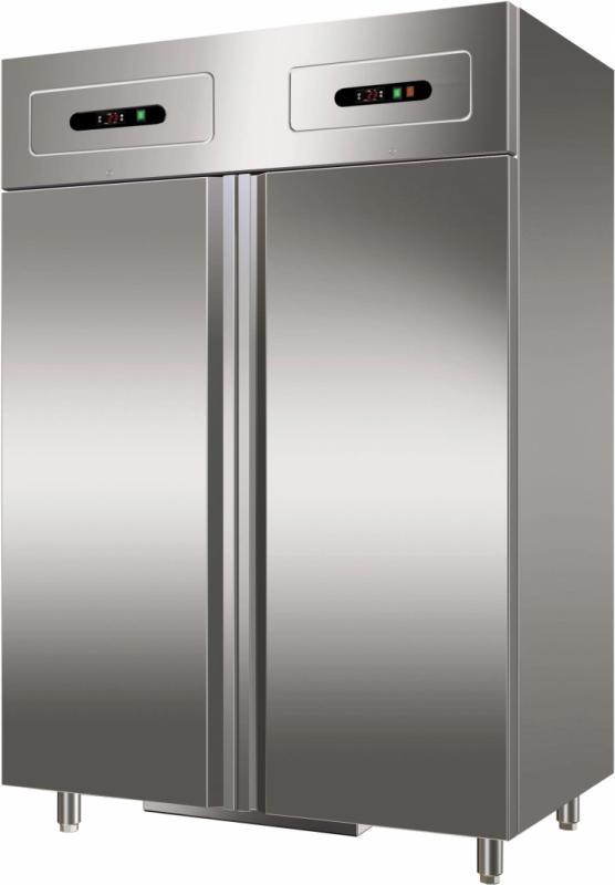 Dubbelkyl/frys rostfritt stål GNV1200DT Forcar