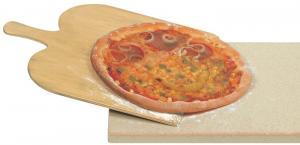 "Pizzaset&Brödbak ""Stenugn"" i äkta natursten - Pizzasten + Bröd-/Pizzaspade"