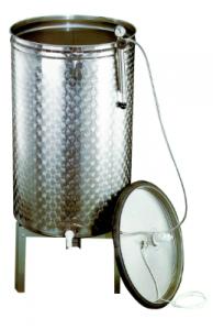 Rostfri Tank 100-2000L Pneumatico med lock