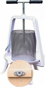 Frukt-/bär-/honungspress ca 8L handdriven - presskorg i rostfritt stål i LAGER