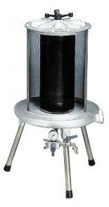 Fruktpress-Hydropress CAREZZA 40 L i rostfritt stål från Enotecnica Pillan