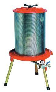 Fruktpress-Hydropress CAREZZA 40 L i aluminium från Enotecnica Pillan