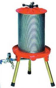 Fruktpress-Hydropress MISURINA 20 L i aluminium från Enotecnica Pillan
