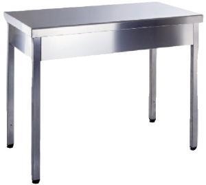 Arbetsbord V-TSR i rostfritt stål