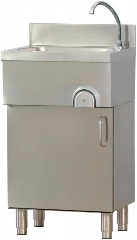 Tvättställ LMM med underskåp rostfritt stål