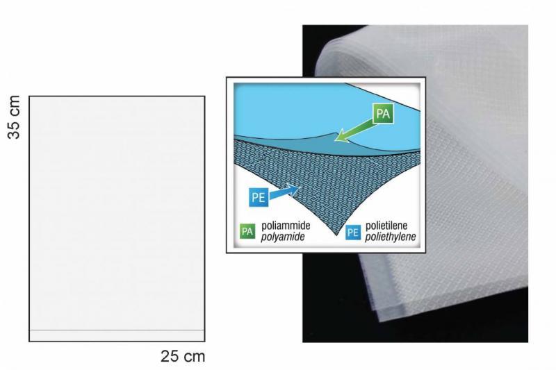 Sous-vide-bänkvakuum-ribbade vakuumpåsar 25x35cm