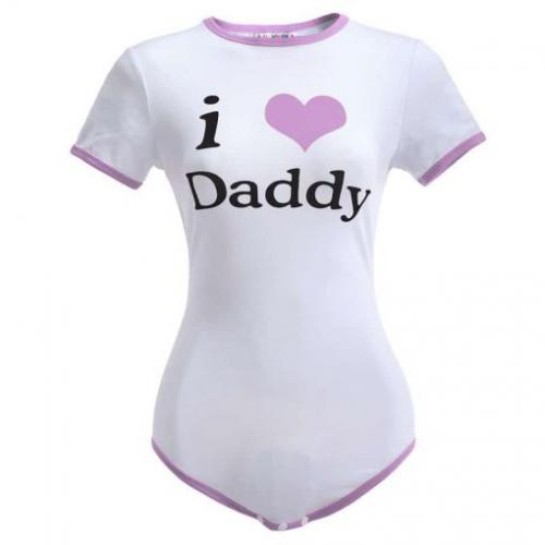 I Love daddy Purpule Onesie