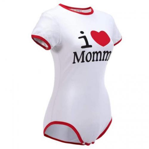 I Love Mommy Red Onesie