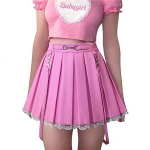 Leather Skirt pink