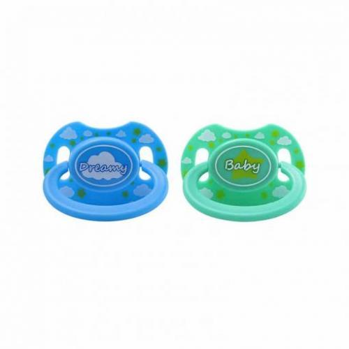 Blue Dreamy & Green Baby Pacifier Set