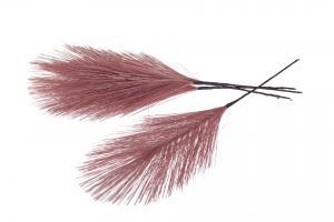 Syntetisk Fjäder/Tråd Rosa 17cm