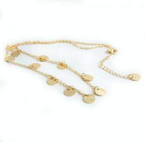 Coin Necklace, Gold
