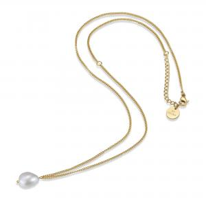 Palma Small Pearl Necklace - Gold