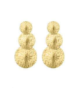 Rivoli Tripple Earring - Gold