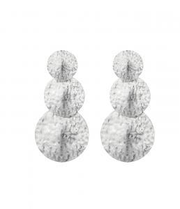 Rivoli Tripple Earring - Silver