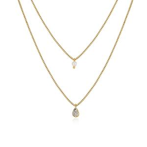 Eve Double Layer Necklace - Gold