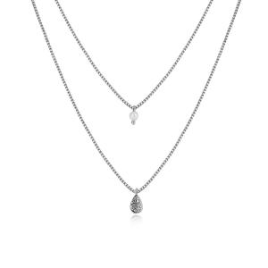 Eve Double Layer Necklace - Silver