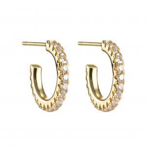 Celine Crystal Hoop - Clear Gold