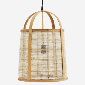 Taklampa i Bambu och Linne