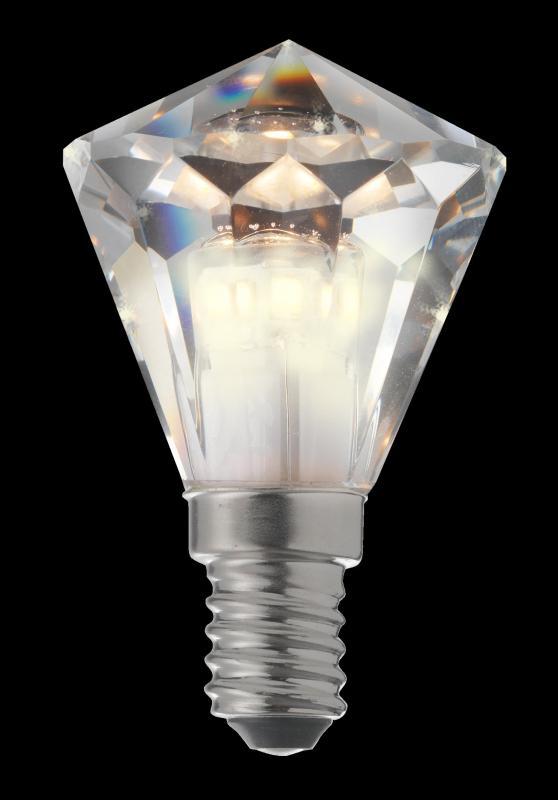 Diamant Kristall E14 3,3W Dim Vit