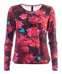 New Odd Things Topp - Pronk LS Merlot Flowers