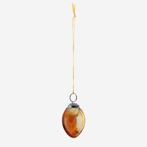 Hängande Glasägg Senaps-Gul-Guld