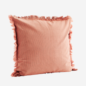 Striped Cushion Cover W Fringes