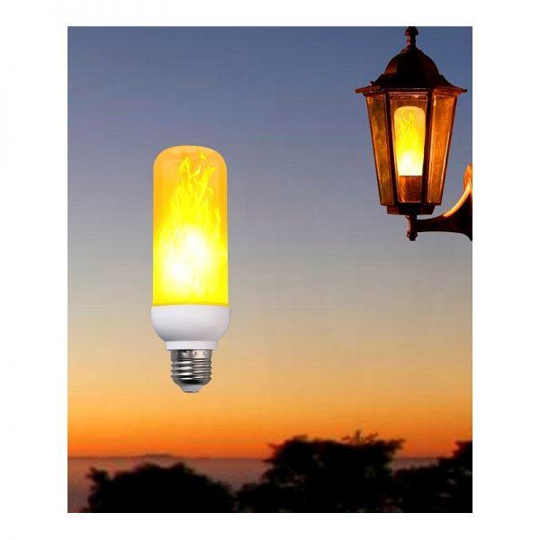 Flammande Lampa E27 Sockel