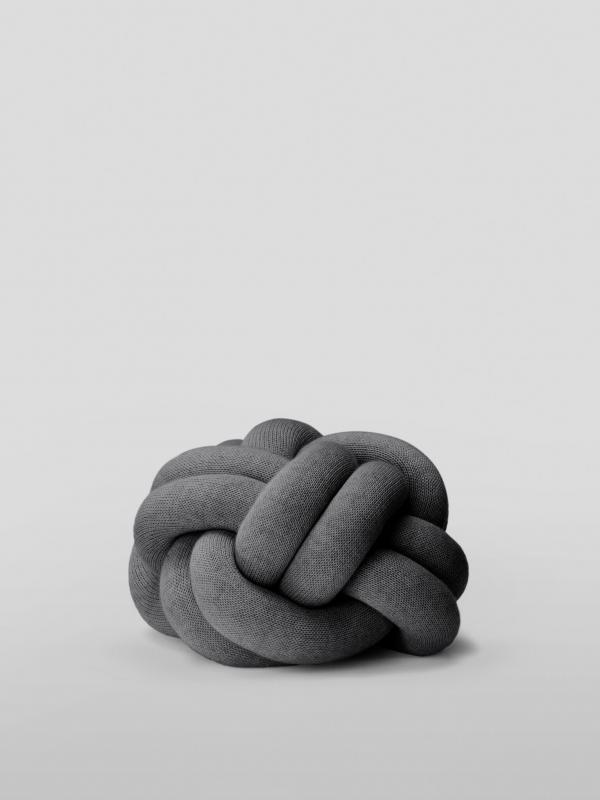 Knot Cushion - Grey